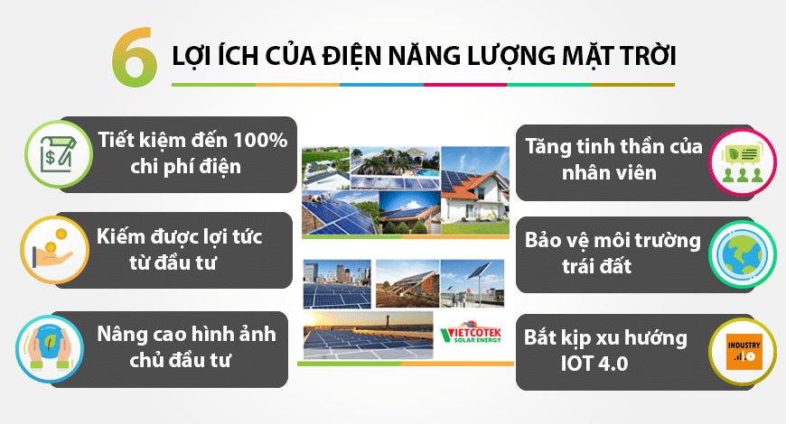 6 lợi ích việc đầu tư điện năng lượng mặt trời