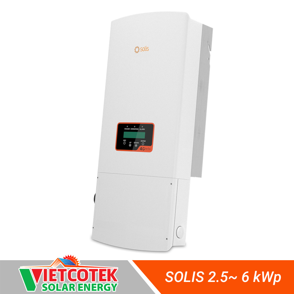 Inverter hòa lưới solis 2.5~6 kwp 1pha 4G US