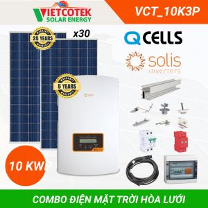 Điện mặt trời hòa lưới 10kwp 3 pha