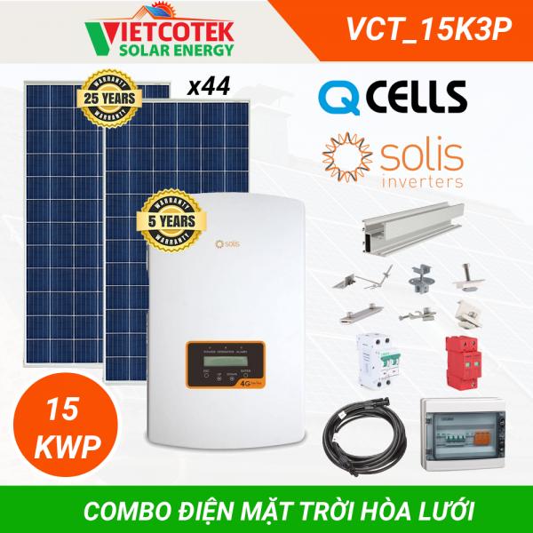 Điện mặt trời hòa lưới 15kWp 3 pha