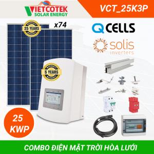 Điện mặt trời hòa lưới 20kWp 3 pha