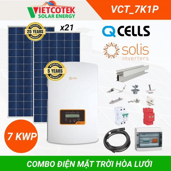 Điện mặt trời hòa lưới 7kwp 1 pha
