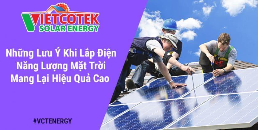 lưu ý lắp điện năng lượng mặt trời